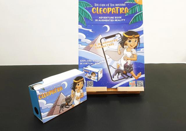 Cleopatra livre enfants réalité virtuelle et augmentée
