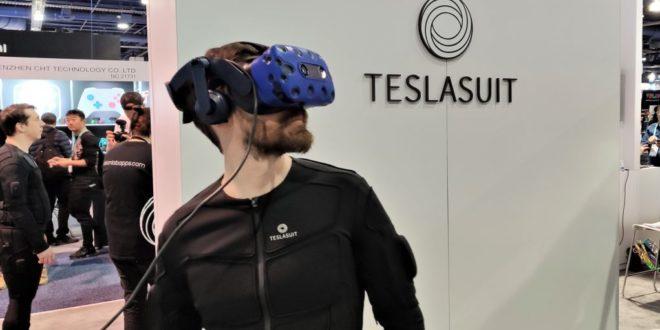 Teslasuit combinaison haptique électricité