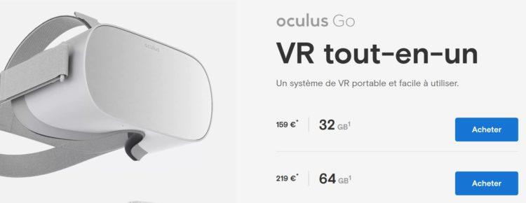 oculus go baisse prix site