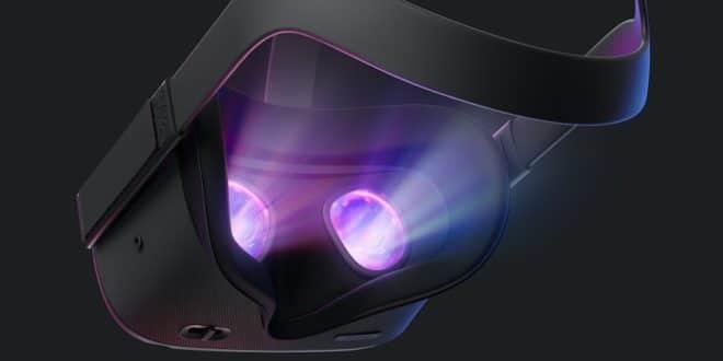 face intérieure oculus quest brillant