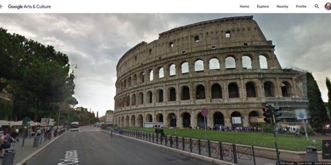 visites VR du colisée à rome pour faire face au coronavirus