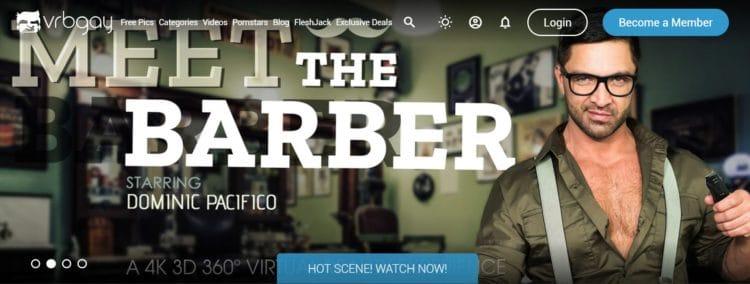 VRBGay, capture d'écran du site porno vr gay