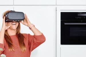 Visite d'une cuisine en réalité virtuelle