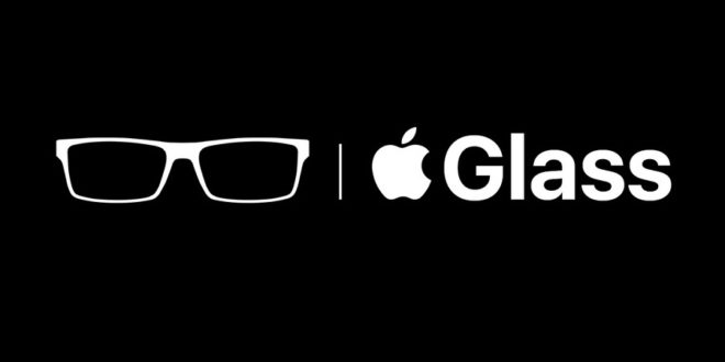 logo apple glass