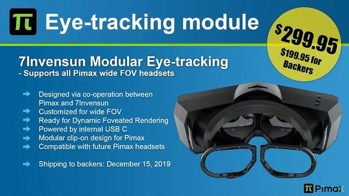 pimax eye tracking