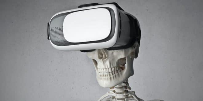 casque VR et squelette